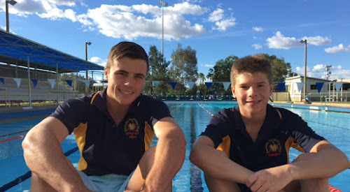 Stingrays swimmers Nick Tomlinson and Toby Michell-Smith both broke records at the club's recent carnival, as did Rachel Caton who was absent from the photo.