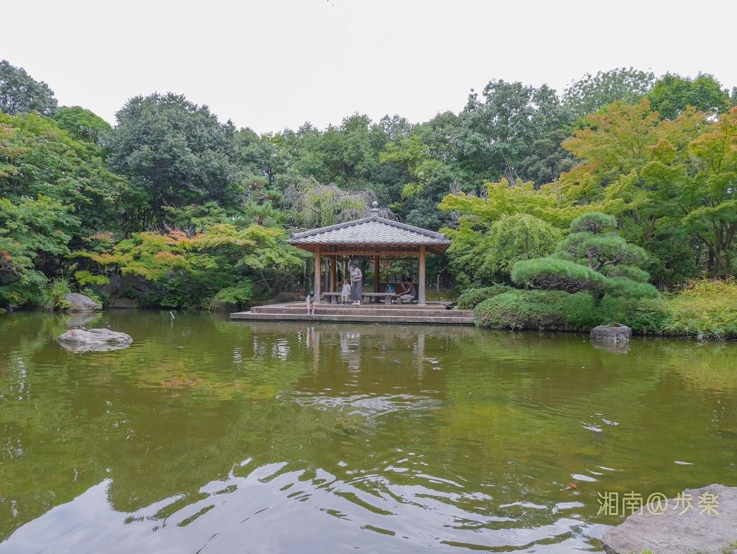 平塚市総合公園 日本庭園 読書や一人飲みに最適だ
