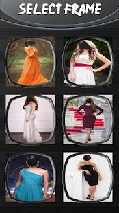 Žena foto šaty montáž - náhled
