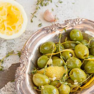 Lemon, Thyme and Garlic Marinated Olives
