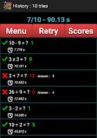 Screenshot of Mental Arithmetic