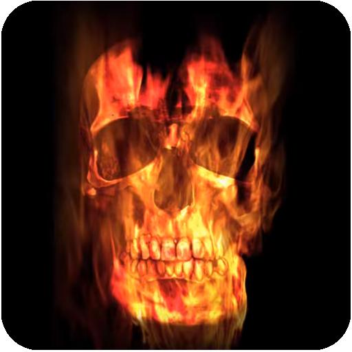 App Insights Fire Skull Wallpaper Apptopia