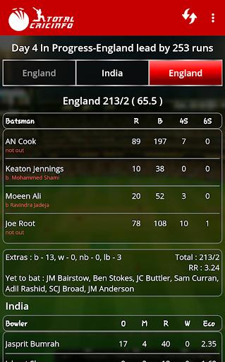 Live Cricket Scores & Updates -Total Cricinfo screenshot 5