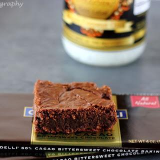 Dark Chocolate Gluten Free Brownies.