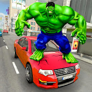 Incredible Green Monster Hero Fight City Rescue
