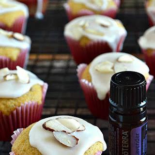 Gluten Free Lavender Almond Honey Muffins with Vanilla Lavender Glaze {Giveaway}.