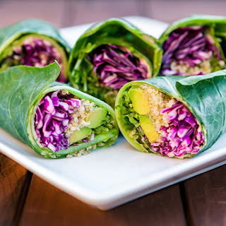 Quinoa and Hummus Stuffed Wraps