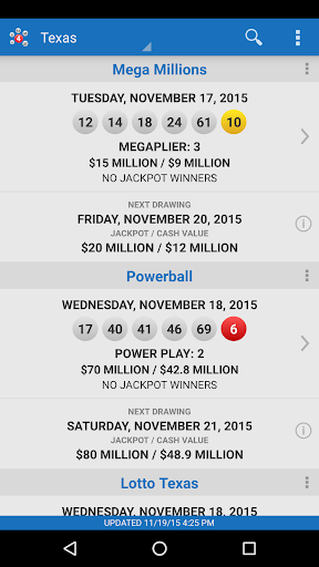 Lotto Results - Mega Millions Powerball Lottery US screenshot