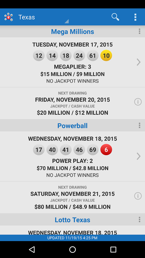 Lotto Results - Lottery Games- screenshot