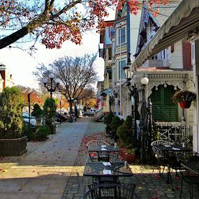 Main Street by Gary Ambessi - City,  Street & Park  Street Scenes
