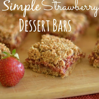 Simple Strawberry Dessert Bars.