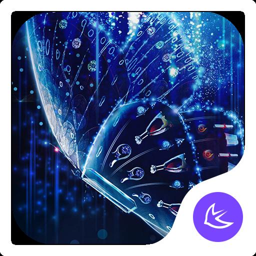 Blue Butterfly-APUS Launcher theme