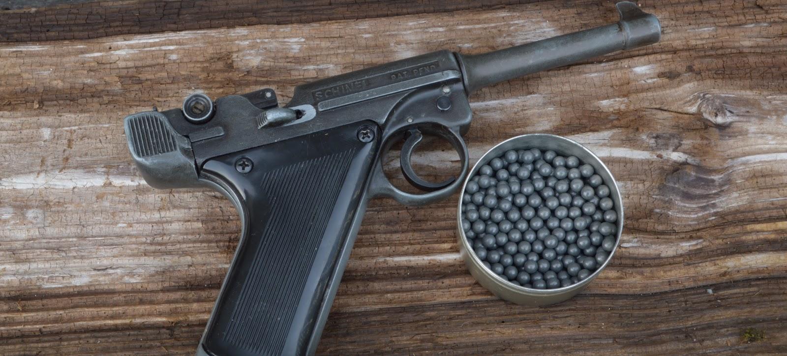 An air pistols using ball ammo