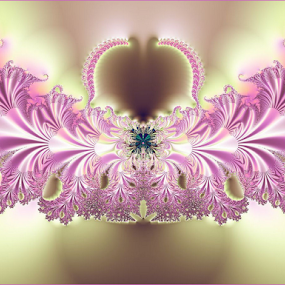 Jeweled by Nancy Bowen - Illustration Abstract & Patterns ( digital art, pink, gold, fractal )