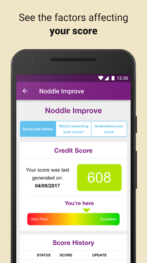 Noddle - Your free credit report & score.- screenshot