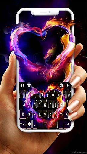 Flaming Heart Keyboard Theme screenshot 2
