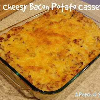 Easy Cheesy Bacon Potato Casserole.