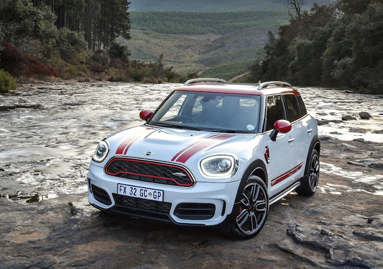 The Mini Countryman JCW offers performance and a surprising amount of gravel road ability. Picture: BMW SA/​ROB TILL