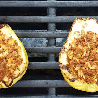 Stuffed Chayote Relleno on the Grill.