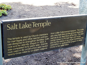 Photo: Salt Lake Temple sign