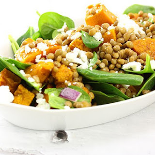 Pumpkin & Green Lentil Salad.