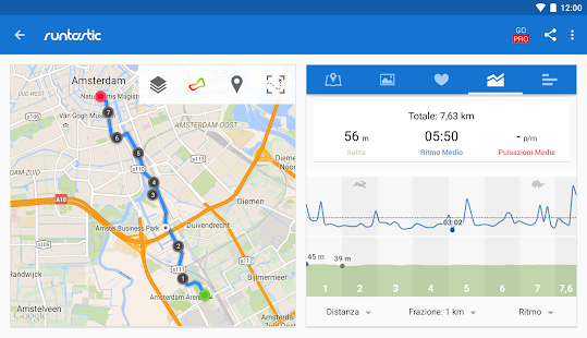Runtastic Corsa e Fitness Screenshot