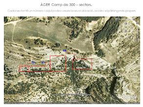 Photo: Lleida/Lérida - Camp de 300 (Àger) - Mapa sectors