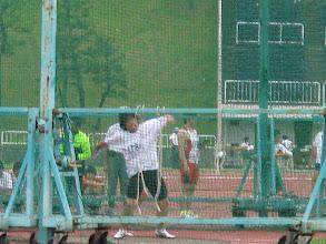 Photo: フェンスの向こうでは細川ガラシャが円盤を投げます!