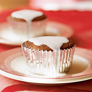Double Ginger Cupcakes with Lemon Glaze.
