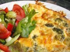 Broccoli Sweet Onion Cheese Tart Recipe
