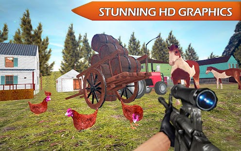 Chicken Shooting 3D Attack Sniper Shooter - náhled