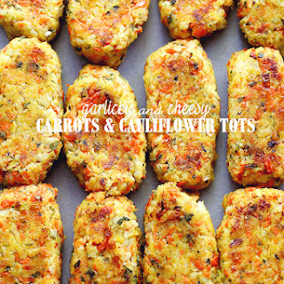 Garlicky & Cheesy Carrots and Cauliflower Tots
