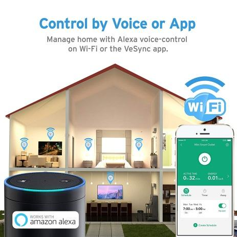 ETEKCITY WIFI SMART PLUG, ENERGY MONITORING WIRELESS MINI REMOTE CONTROL OUTLET WITH TIMER