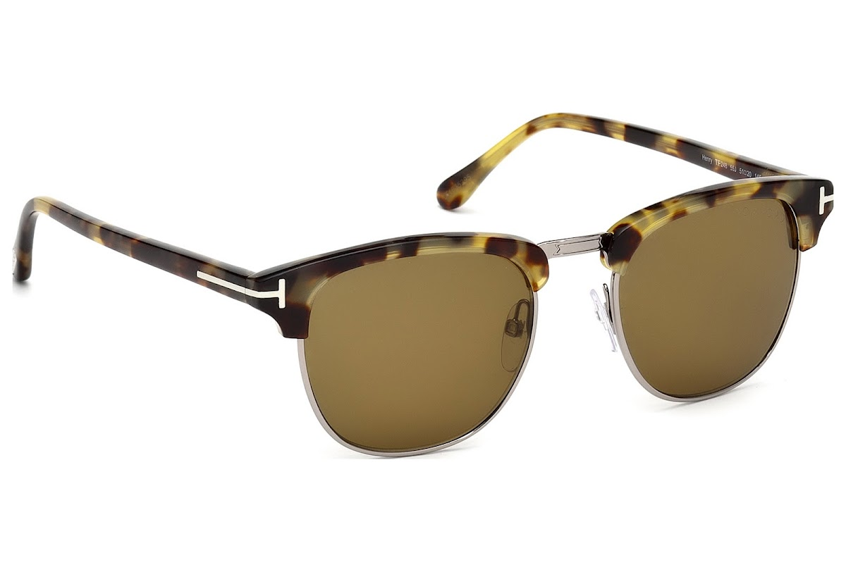 53abdc4fc97 Sunglasses Tom Ford Henry FT0248 C53 55J (coloured havana   roviex)