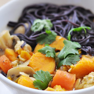 Thai Coconut Curry Noodle Soup , Vegan + Gluten-Free