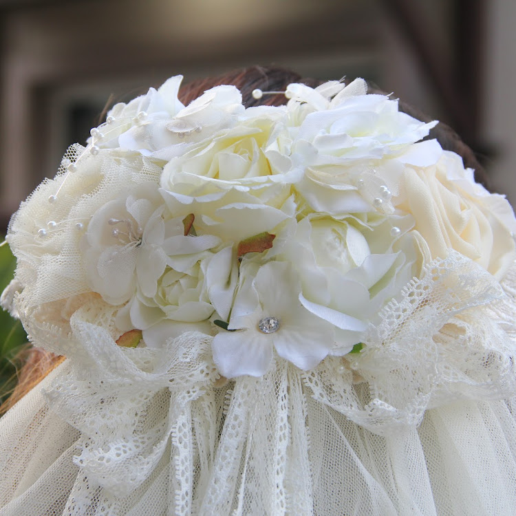 Floral Crown with Long Veil