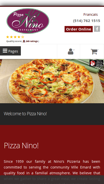 Pizza Nino Montreal- screenshot