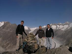 Photo: Ken, Josh, and Miles on the Bettmerhorn