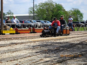 Photo: Engineer Clyde Brown and Passenger Cody Crawford     HALS Public Run Day 2014-0419 DH3