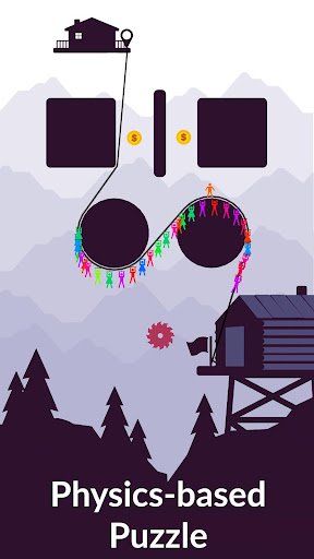 Zipline Valley - Physics Puzzle Game 1 screenshots 1