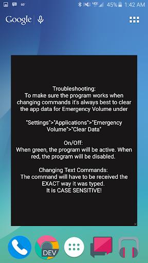 Emergency Volume
