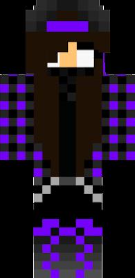 yo dawg i herd you like purple and wolfs so i made you a purple wolf herobrine skin <3