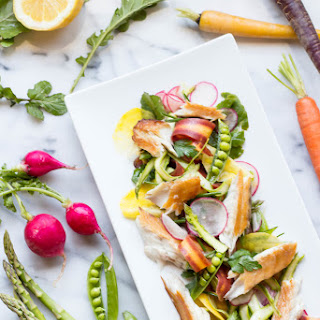 Smoked Barramundi with Spring Vegetable Salad