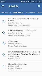NECA Events screenshot
