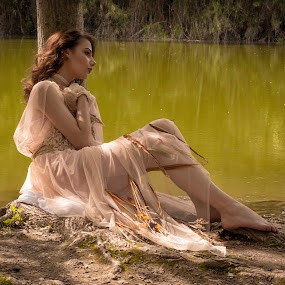 By the lake by Kine Akasi - People Portraits of Women