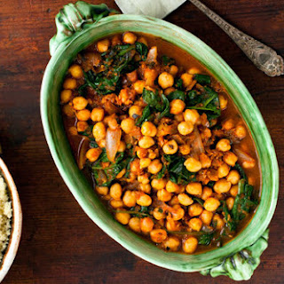 Couscous With Chickpeas, Spinach and Mint