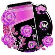 Purple Rose Launcher Themes