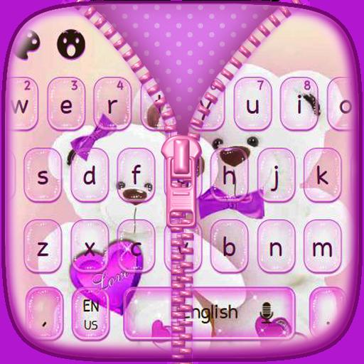 Teddy Bear Zipper Keyboard
