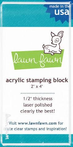 Lawn Fawn 2X4 Acrylic Block