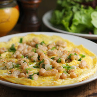 Omelet with White Beans and Scallions.